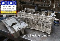 Long block Volvo S40 2.4i engine
