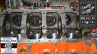 bore honed Chevy 396 engine block