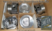Ford 300 F-Series pistons
