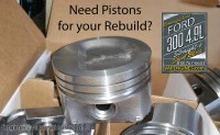 Ford 300 4.9L straight-6 F-Series Piston set.