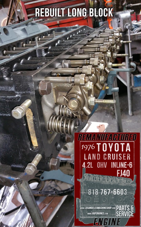 Rebuilt-76-toyota-landcruiser-fj40-engine - Los Angeles Machine Shop- Engine Rebuilder|Auto ...
