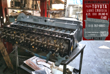 76 Toyota Land Cruiser FJ40 4.2 Engine Rebuilding