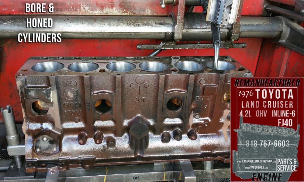 toyota land cruiser fj  engine rebuilding machine shop svc