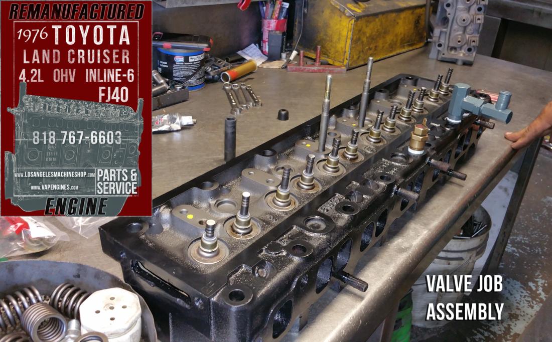 76 Toyota Land Cruiser Fj40 4 2 Engine Rebuilding Los