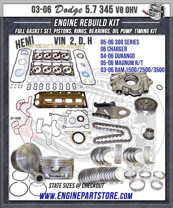 dodge hemi 5.7 engine rebuild kit