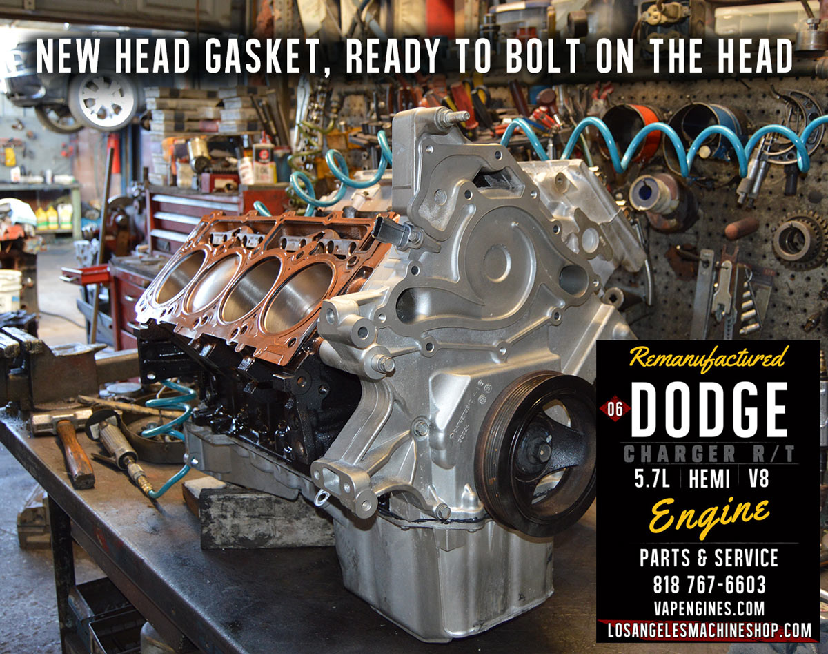 Remanufactured Dodge Hemi 5 7 Engine Los Angeles Machine