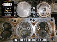 dodge hemi 5.7 damaged head and pistons