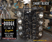 dodge hemi 5.7 short block