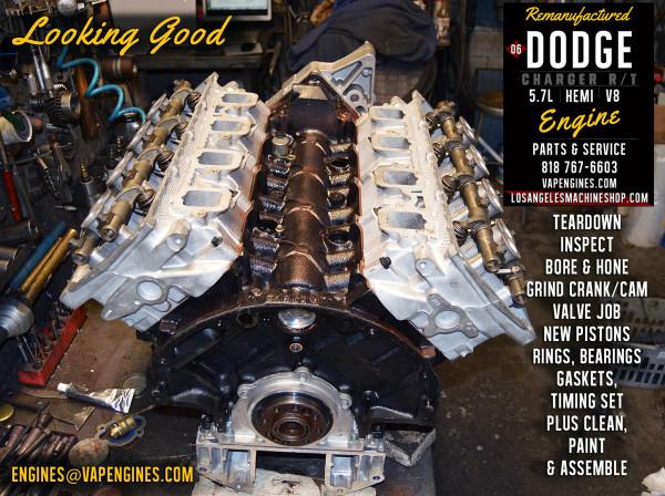 long block dodge hemi 5.7 engine