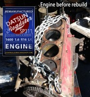 Datsun 1600 1.6 engine before rebuild