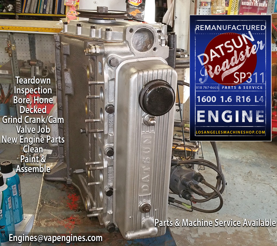 Remanufactured Datsun Roadster R16 Sp311 1600 Engine Los