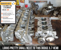 Dodge 5.7 hemi vs Smart 1.0 head