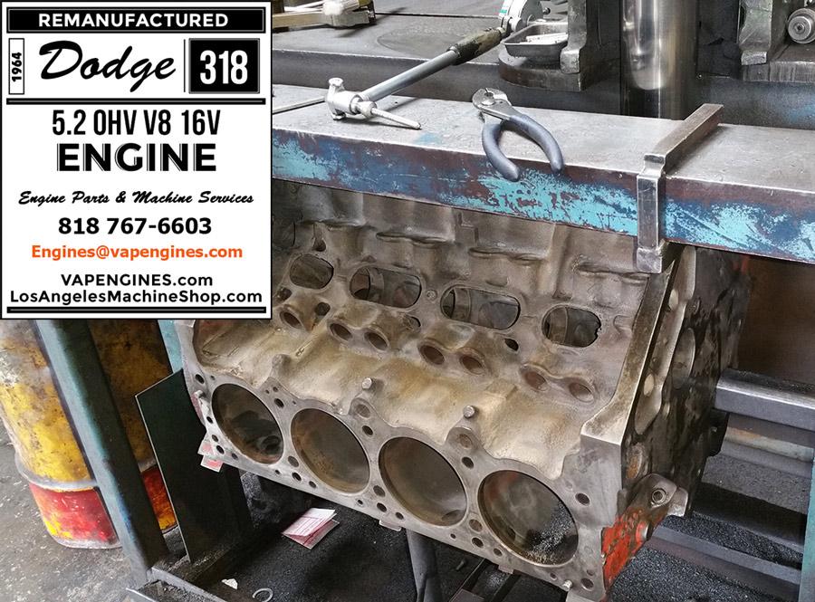 Remove Broken Bolt >> 64 Dodge 318 Engine Rebuild Service - Machine Shop Photos