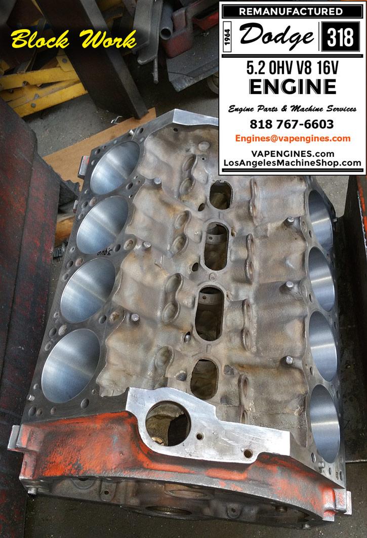 64 Dodge 318 Engine Rebuild Service - Los Angeles Machine Shop- Engine Rebuilder|Auto Parts Store