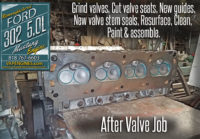 Valve Job on Ford 302 5.0 cylinder heads.