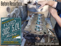 Resurface Ford 302 cylinder head