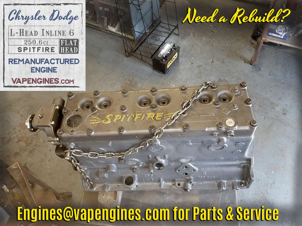 Chrysler Dodge Flathead Rebuilt Engine on Dodge Flathead Engine Rebuild
