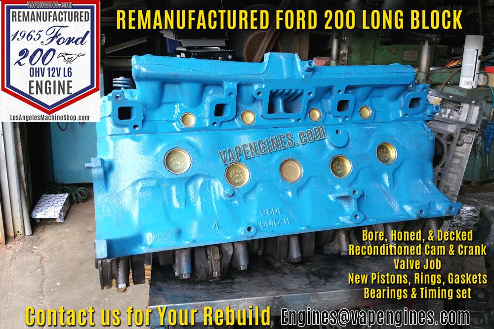 Remanufactured Ford 200 Straight-6 Engine Rebuild