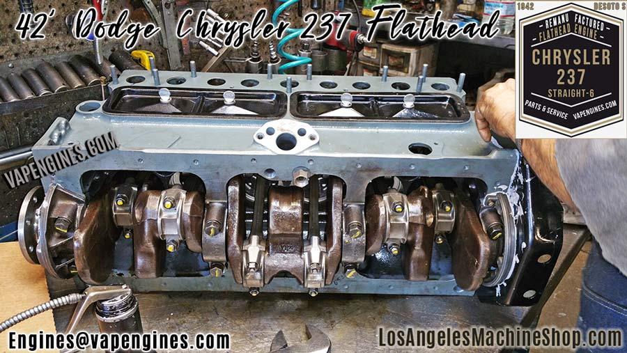 Chrysler Dodge 237 Flathead Straight-6 Engine Rebuild Machine Shop
