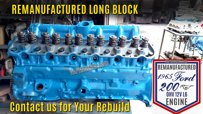 Remanufactured Ford 200 Straight-6 Engine Rebuild