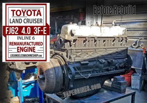 1989 Toyota Land Cruiser FJ62 4.0 Before Rebuild starts.