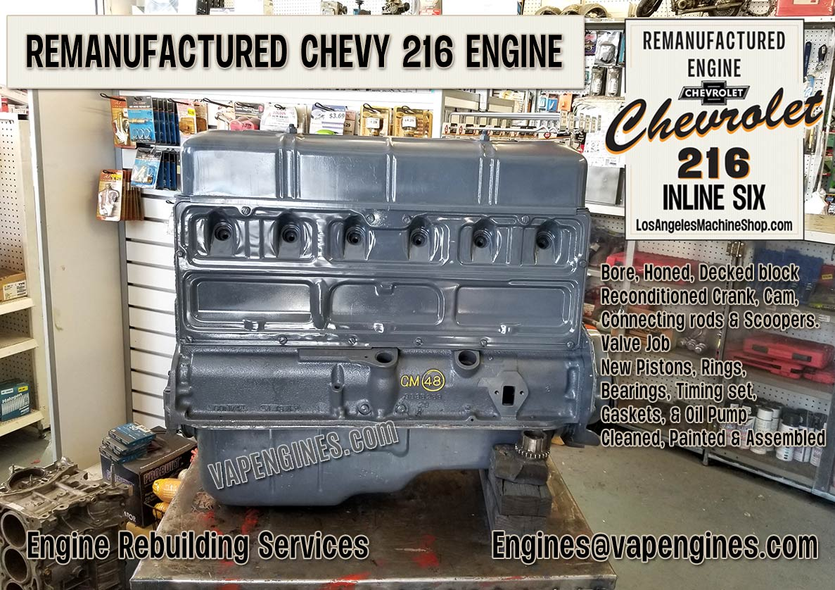 Rebuilt Chevy GM 216 engine builder