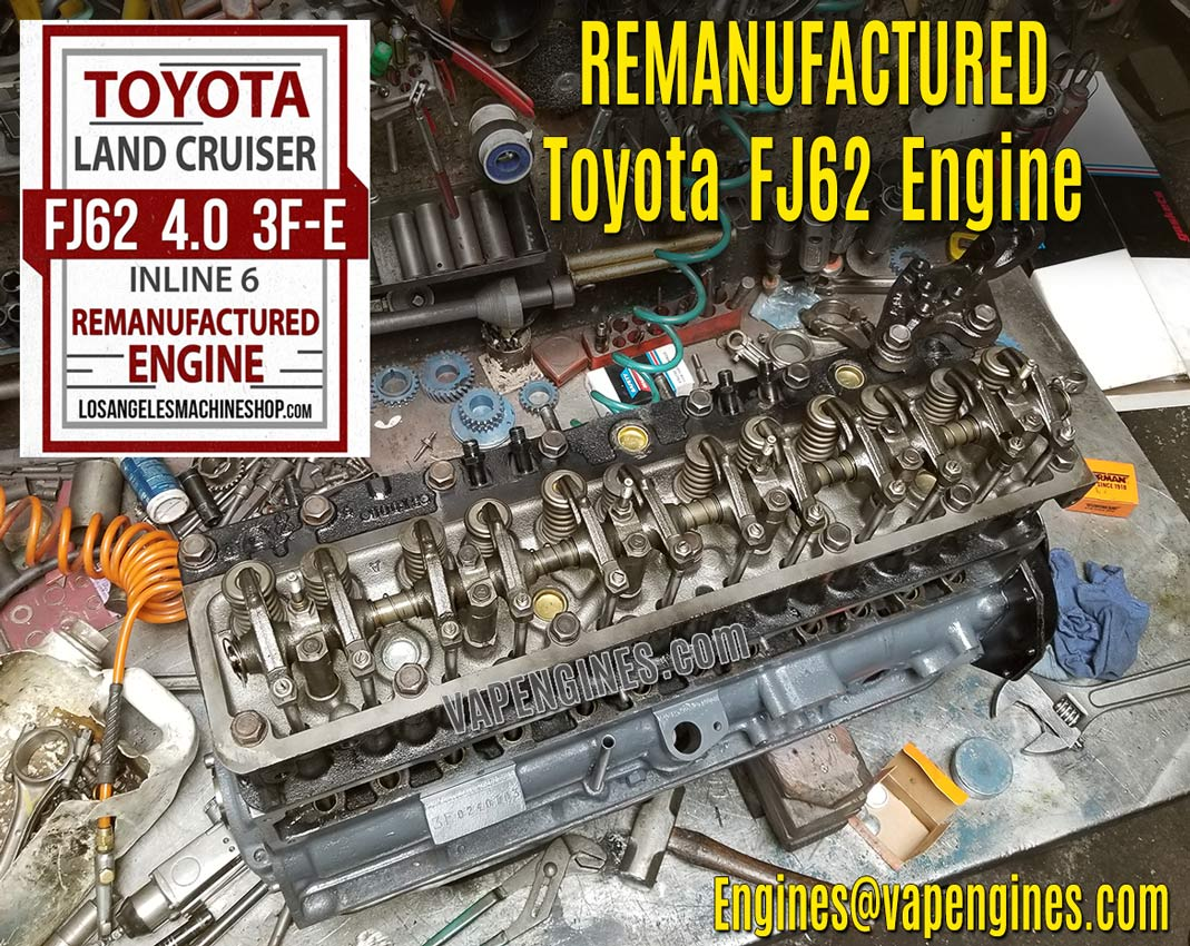Remanufactured 1989 3FE Toyota Land Cruiser FJ62 4.0 Engine