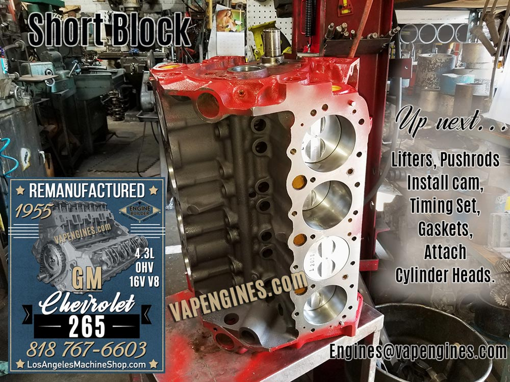 Remanufactured GM Chevy 265 Engine - Photos of the Rebuild