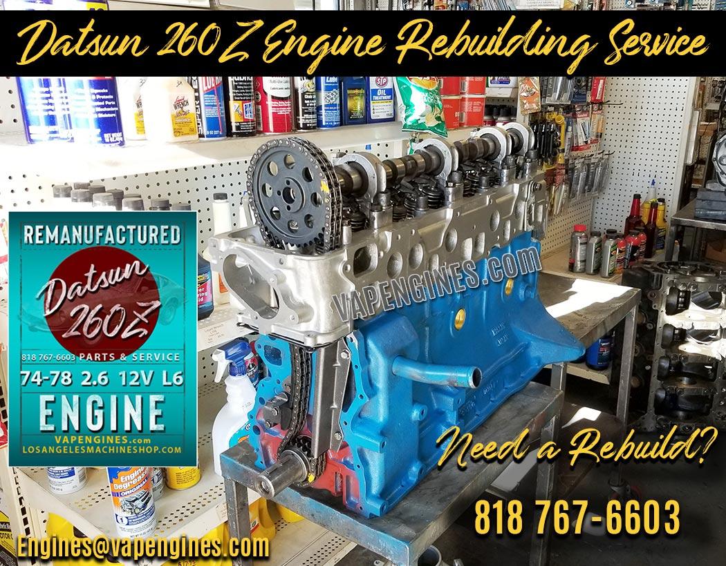 Rebuilt Datsun 260Z Engine
