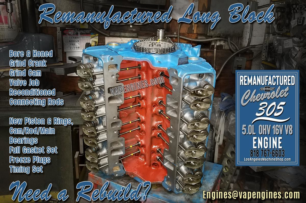 Remanufactured Chevy GM 305 5.0L
