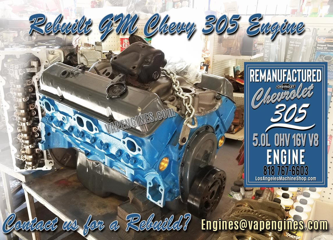 GM 305 5.0L Engine Rebuilt