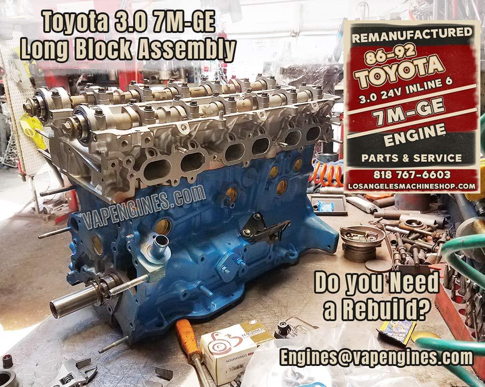 Engine Rebuild Service Toyota 7M-GE 3.0